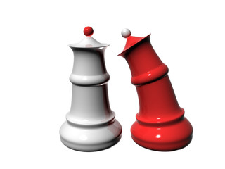 Chess pieces symbiosis