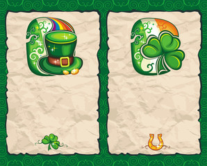 St. Patrick's Day paper backgrounds series 1