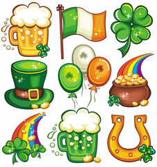 St. Patrick's Day icon set series 2