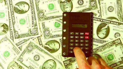 The calculator and money