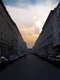 Fototapete Himmel - Wolken - Straße