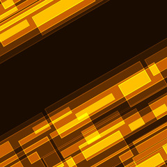 Abstract diagonal orange intersecting rectangles background.