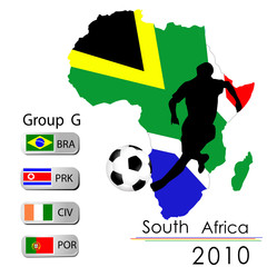 World Cup South Africa balls – Group G