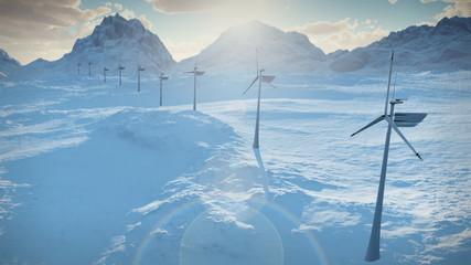 1152 Electricity Wind Turbines Power Clean Electric Energy LOOP