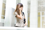 Businesswoman on the move poster