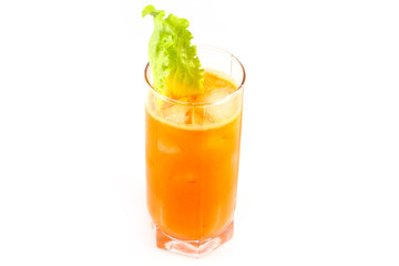 Chilled carrot juice