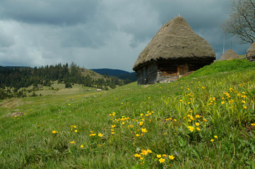 Old farmer's wooden house in Transylvania, Romania