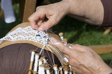 bobbin lace work