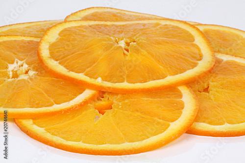 Fotobehang Plakjes fruit 5 Orangenscheiben