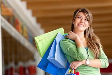 Beautiful shopping girl