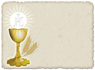 Religione Calice e grano-Religion Cup and Corn-2