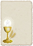 Religione Calice e grano-Religion Cup and Corn-1 poster