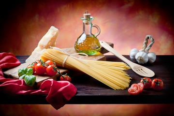 Italian pasta  basic ingredients