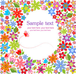 Easter floral card
