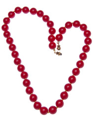 Red Heart Shaped Necklace