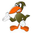 vogel cartoon böse zeigen comic