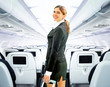 canvas print picture - flight attendant