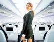 Leinwanddruck Bild - flight attendant