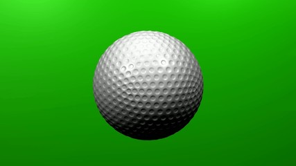 Golfball rotierend