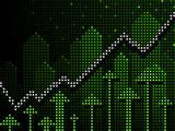 Ticker business chart up poster