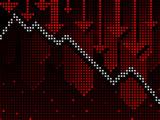 Ticker business chart going down poster