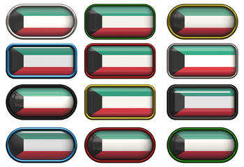twelve buttons of the Flag of Kuwait