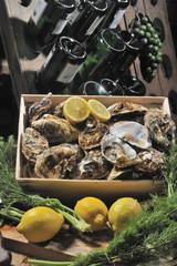 Frische Austern, Meeresfrüchte, Schalentiere, Luxus