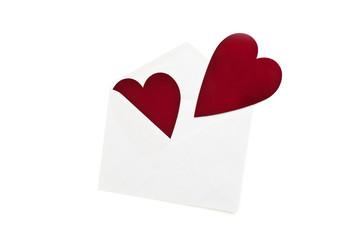 red heart in envelope