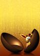 Uovo Cioccolato con Coniglio-Chocolate Egg and Rabbit-1