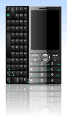 Smart phone with qwerty keyboard