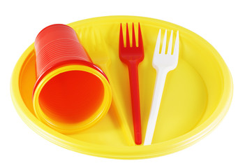 plastic plates and forks