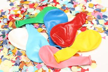 Confettis et ballons