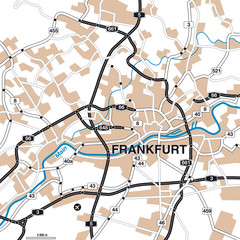 Stadtplan/Umgbungskarte Frankfurt