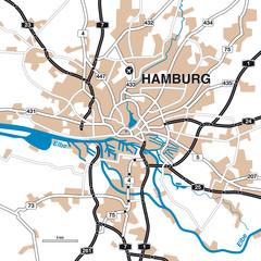 Stadtplan/Umgebungskarte Hamburg