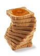 fette biscottate con marmellata albicocche