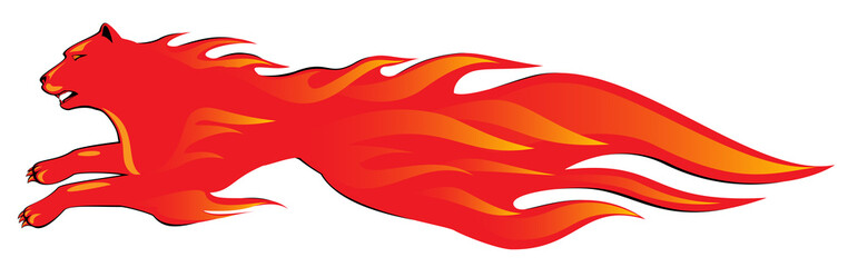 Fiery panther