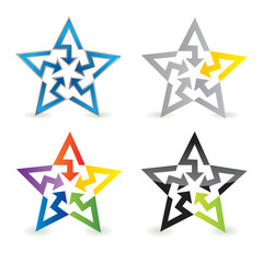 abstract star sign