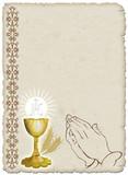 Religione Calice e Preghiera-Religion Cup and Prayer poster