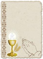 Religione Calice e Preghiera-Religion Cup and Prayer