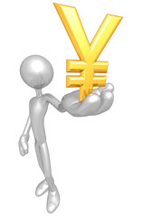 Holding Gold Currency Symbol
