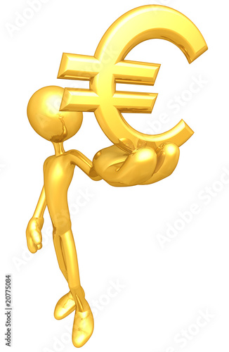 Gold Guy With Money Symbol