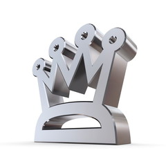 Shiny Peaked Crown
