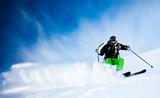 Fototapety Man's skiing