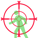 Sniper rifle sight or scope poster