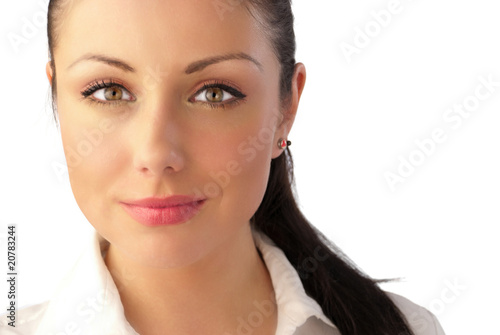 Attractive young woman celebrity-like portrait Poster