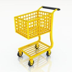 Gold Shopping Cart - Einkaufswagen gold