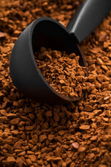 background of instant coffe with spoon