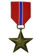 3d render US Bronze star medal