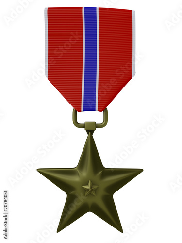 3d render US Bronze star medal