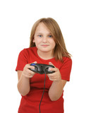 child playing video games, poster